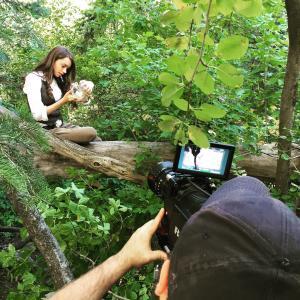 Sydney Wease filming Dreamer in the Falls
