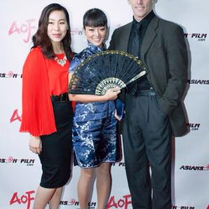 Melodie Shih and Kiki Sukezane at Asians On Film Holloween Red Carpet Event