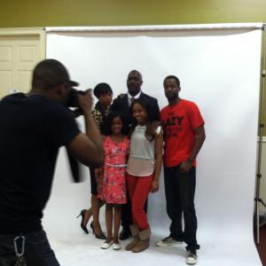 Hear No Evil Photoshoot  with Jill Marie Jones Richard T Jones Jahnee Wallace Jackie Long and I