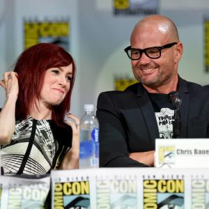 Chris Bauer and Carrie Preston at event of Tikras kraujas (2008)