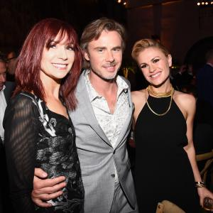 Anna Paquin, Carrie Preston and Sam Trammell at event of Tikras kraujas (2008)