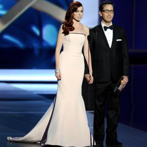 Dan Bucatinsky and Carrie Preston at event of The 65th Primetime Emmy Awards (2013)