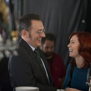 Still of Michael Emerson and Carrie Preston in Person of Interest (2011)