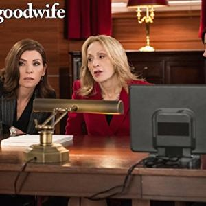 Still of Julianna Margulies and Carrie Preston in The Good Wife (2009)