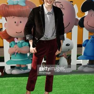 Actor Noah Schnapp attends the premiere of 20th Century Fox's 'The Peanuts Movie' at the Regency Village Theatre in Westwood, California.