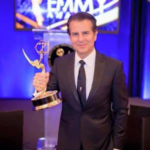 UNIVERSAL CITY CA  APRIL 24 Actor Vincent De Paul attends and wins at the 42nd Annual Daytime Creative Emmy Awards at Universal Hilton on April 24 2015 in Universal City California Photo by Greg Doherty
