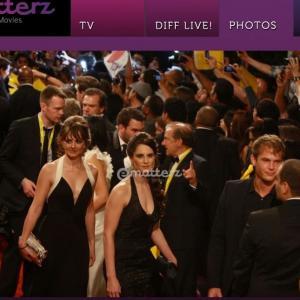 Mission Impossible 4 Red Carpet Premiere 2011 - actress' Laura Quirke, Victoria Borasio and Director Naim Zaboura