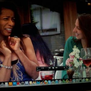 Gayla Johnson Starring in THE BET 4 girls have lunch gossiping about men