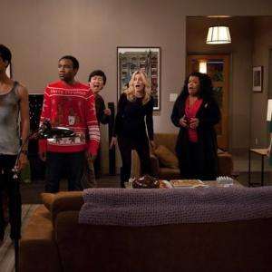 Still of Ken Jeong Yvette Nicole Brown Alison Brie Gillian Jacobs Danny Pudi and Donald Glover in Community 2009