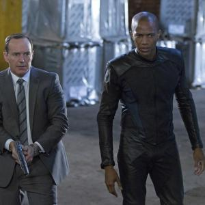 Still of Clark Gregg and J August Richards in Agents of SHIELD 2013