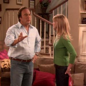Still of James Belushi and Courtney ThorneSmith in According to Jim 2001