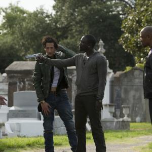 Still of Adrien Brody, Hayden Christensen, Tory Kittles and Akon in Amerikietiskas apiplesimas (2014)