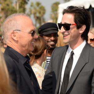 Michael Keaton and Adrien Brody at event of 30th Annual Film Independent Spirit Awards (2015)