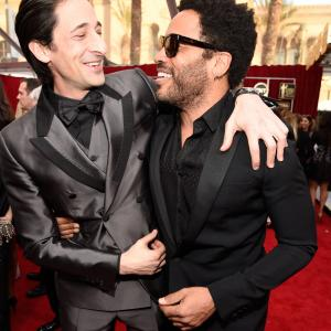 Adrien Brody and Lenny Kravitz at event of The 21st Annual Screen Actors Guild Awards (2015)
