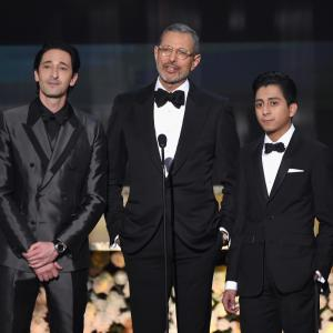 Jeff Goldblum, Adrien Brody and Tony Revolori at event of The 21st Annual Screen Actors Guild Awards (2015)