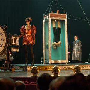 Still of Adrien Brody and Kristen Connolly in Houdini (2014)