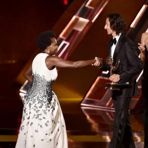 Adrien Brody and Viola Davis at event of The 67th Primetime Emmy Awards (2015)