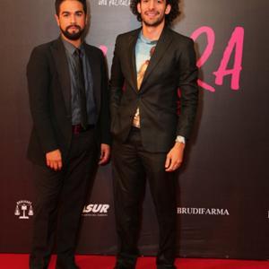 Luis Rosales and Carlos Oropeza at red carpet of Elvira.
