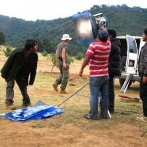 Luis Rosales filming Canacucho