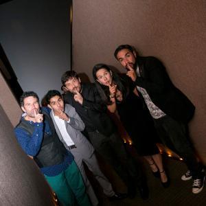 Jorge de los Reyes, Kristyan Ferrer, Héctor Kotsifakis, Arcelia Ramírez y Luis Rosales at the premier of Guten Tag, Ramón (2014)