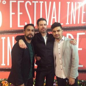 Luis Rosales, David Pablos and Jhovanni Raga at premiere of Las Elegidas (The Chosen Ones).