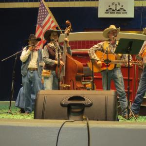 Johnny Davis Al Connors Johnie Terry Bob Terry and Mel Whirley performing at the Fort Worth Stock Show and Rodeo during the Cowboy Campfire Tales event 2015