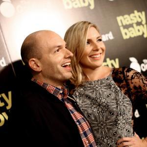 Paul Scheer and June Diane Raphael at event of Nasty Baby (2015)