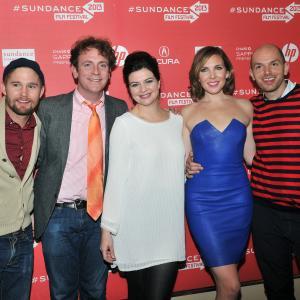 Drew Droege, Paul Scheer, Brian Geraghty, Casey Wilson and June Diane Raphael at event of Ass Backwards (2013)