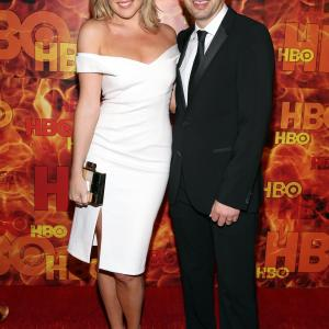 Paul Scheer and June Diane Raphael at event of The 67th Primetime Emmy Awards (2015)