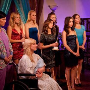 Still of Malin Akerman, Abigail Spencer, Morgan Walsh, Deanna Russo, Janet Varney, Noureen DeWulf and June Diane Raphael in Burning Love (2012)