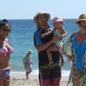 Still of Paget Brewster Christina Milian Josh Peck and Emelia Golfieri in Grandfathered 2015