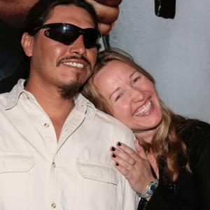 Nina Zavarin at press junket with Jesus Moises Rodriguez
