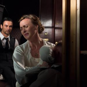 Nina Zavarin in Nord Express as Anna with Konstanin Lavysh and James Sharpe