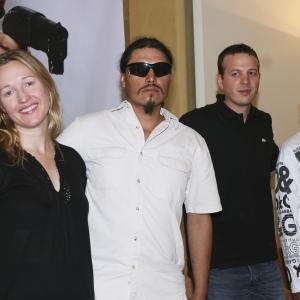 Los Bastardos premier in Mexico City (Nina Zavarin, Jesus Moises Rodriguez, Amat Escalante and Rubén Sosa)