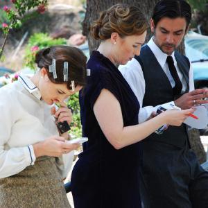 Nord Express cast have their hands full: Tamara Belousova, Nina Zavarin, and Konstantin Lavysh