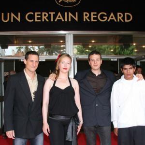 Los Bastardos Un Certain Regard screening at Cannes (Kenny Johnston, Nina Zavarin, Amat Escalante and Rubén Sosa)