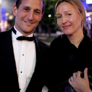 Nina Zavarin at Cannes Film Festival with Kenny Johnston
