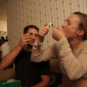 Los Bastardos: Nina Zavarin with Kenny Johnston - a generous actor and