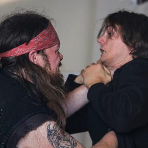 Fight scene with George Webster On the set of Tim Seyferts Trial By Fire Film