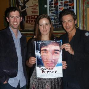 Christian Poppi with actor Tristan Coates and director Lou Walsh at the 2011 Visionarre Premier at the Astor Theatre