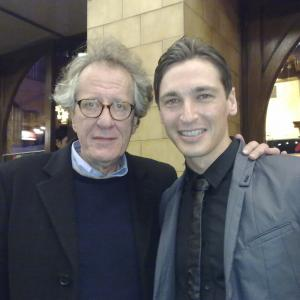 With Geoffrey Rush at the 2012 Melbourne International Film Festival after party.