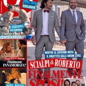Roberto Blasi Actor Singer : Photo cover for Italian weekly Publication